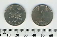 Hong Kong 1997 - 1 Dollar Copper-Nickel Coin - Bauhinia flower