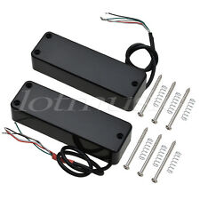 Pickups Humbucker Bridge and Neck Set for 4 String Electric Bass Guitar Black