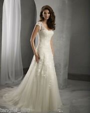 NEW White Ivory Bridal Gown Wedding Dress Custom Size 6 8 10 12 14 16 18