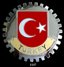 CAR GRILLE EMBLEM BADGES -  TURKEY (FLAG)