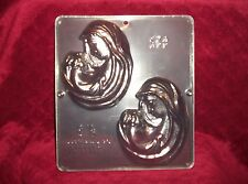 FREE SHIP NEW MARY & BABY JESUS Chocolate Candy Fondant Sugar Plaster Clay Mold