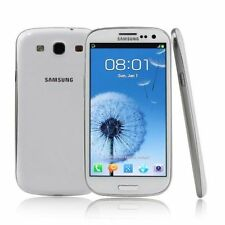 "Unlocked Samsung Galaxy S3 I9300 Android 4.8"" Cell Phone GPS NFC 16GB 8MP White"