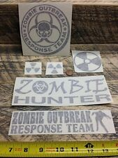ZOMBIE DECALS (6) sticker vinyl outbreak response team biohazard hunter