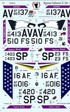 Eagle Strike F-16 Kosovo Falcons  Decals 1/32 for Monogram Revell Hasegawa Kits