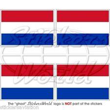 """OLANDA Bandiera Olandese Adesivi in Vinile per Auto 5cm/2"""" Stickers x4"""