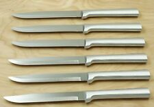 RADA R104 SET OF SIX UTILITY/STEAK KNIVES SILVER HANDLE SAME AS S06 NO BOX 77