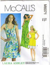 Shoulder Strap Sun Dress Laura Ashley McCalls Sewing Pattern Size 4 6 8 10 12