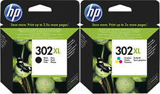 2x HP 302 XL PATRONEN OfficeJet 3830 3834 4650 4654 DeskJet 1110 2130 3630