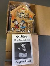 Vintage Disney Schmid Music Box It's A Small World Cuckoo Clock Wooden House MIB