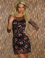 Sexy Party Dress Cocktail Evening Dress Club Wear Mini Dress Sequin Bodycon pink