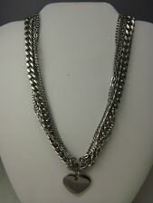 "MULTI CHAIN STAINLESS STEEL 18"" HEART PENDANT NECKLACE BY ITAOR"