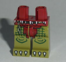 LEGS 006 Lego Olive Green Legs w/Dark Red Loincloth & Claws NEW Boy Girl 70014
