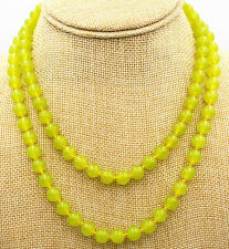 "Fine natural 6mm peridot beads Gemstone Necklace 36 ""AAA"