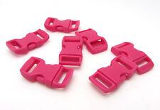 """12pcs 3/8"""" Curved Side Release Plastic Buckle  for Paracord Bracelet Rose  KJ-7"""