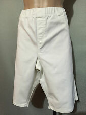 BNWT Womens Sz 20 Autograph White Stretch Denim Elastic Waist Shorts RRP $50