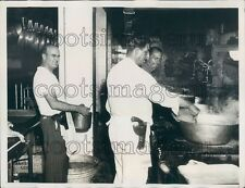 1933 Military Officers Cooking in Kitchen During Strike 1930s Cuba Press Photo