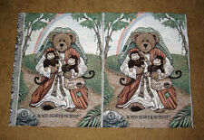 Boyds Bears Mr. Noah & Friends Tapestry Pillow Fabric Remnant Pair