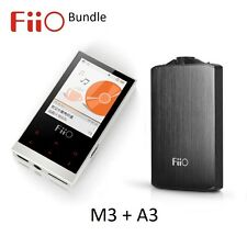 FiiO M3 Portable Lossless Music (FLAC/WAV/MP3) Player + A3 Headphone Amp BUNDLE