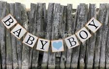 BABY BOY Hanging Bunting Banner for Baby Shower Nursery Decor
