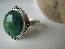 Turquoise Silver Ring Size 8.25 ~ Beautiful color stone