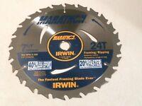 """Irwin Marathon 14030 7 1/4"""" 24T Carbtip Blade"""
