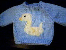 Customized Easter Duck Sweater Handmade for 18 inch Build A Bear Made in USA
