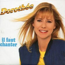 ★☆★ CD SINGLE DOROTHEE Il faut chanter 2-track CARD SLEEVE RARE 1993  ★☆★