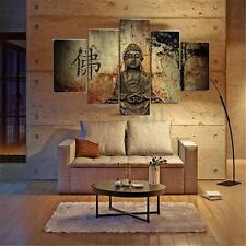 5x Buddha Modern Abstract Wall Painting Canvas Print Picture Home Decor Unframed