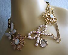BETSEY JOHNSON VINTAGE SCHOOOL OF DANCE PEARL CLUSTER STATEMENT NECKLACE~RARE
