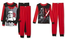Star Wars Boys Pajamas Size 12 Cotton 4 piece 2 Pairs Darth Vader Stormtrooper L