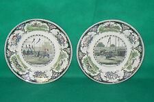 Lot de deux assiettes CREIL ET MONTEREAU medailles d'or LEBEUF MILLIET