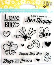 Love Bug Card Sentiments Clear Acrylic Stamp Set by Jillibean Soup JB0842 NEW!
