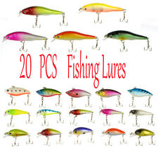 20pc 3D Eyes CrankBaits swimming Fat Minnow Saltwater Fishing Lure bait au store