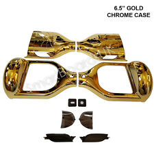 "GOLD CHROME 6.5"" HOVER BOARD in plastica Shell swegway caso 6.5 pollici Cornice segwa UK"