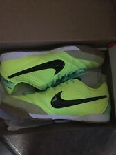 Nike TIEMPO NATURAL IV IC INDOOR Soccer SHOES Lime Volt Black Brand New Size 9.5