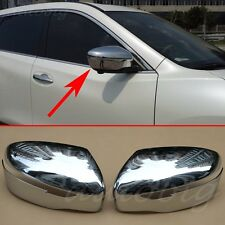Side Mirror Cover FOR 2014-2016 Nissan X-Trail Rogue T32 Rear View Chrome Trims