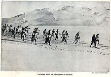 1918 * Italienische Alpini auf Schneeschuhen am Adamello *  WW1