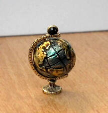 1/12, dolls house miniature Globe Rotating Ornament Study office desk Table LGW
