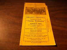 EARLY WASHINGTON, DC SIGHT SEEING AUTOMOBILE COACH BROCHURE