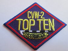 CVW-2 Top Ten - Embroidered Iron or Sew On Patch- P092