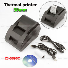 New DC 12V 3A Mini 58MM POS/ESC Cash register Thermal Receipt Printer machine