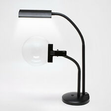 4X Bright White LED Desk Lamp Magnifier - 6.5 Inch Round, Low Vision, Lighted