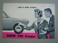BMW  700 Coupé  brochure/Prospekt 1961.