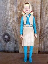 VTG Johnny West Action Figure Josie West Doll & Skirt Vest Belt Scarf c1967 Marx