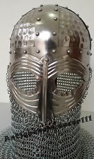Gjermundbu Halloween Viking Helmet with Chain Mail Medieval Renaissance Costume