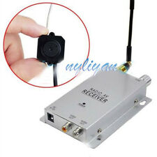 Mini Wireless Nanny Micro Camera Transmitter with Receiver Full Kit