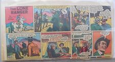 (22) Lone Ranger Sunday Pages by Fran Striker and Charles Flanders from 1954