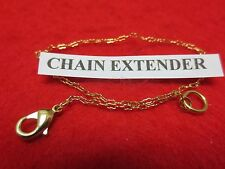 6 INCH 14KT GOLD EP  1MM BUTTERFLY CURB CHAIN  EXTENDER FOR FINE CHAINS