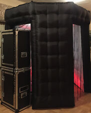 Inflatable Photo Booth Enclosure 2door OCTAGON W/TOP BOTTOM LED strip /ROOF