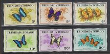 TRINIDAD & TOBAGO #210-215 Mint Light Hinge 1972 COLORFUL BUTTERFLIES Set of 6